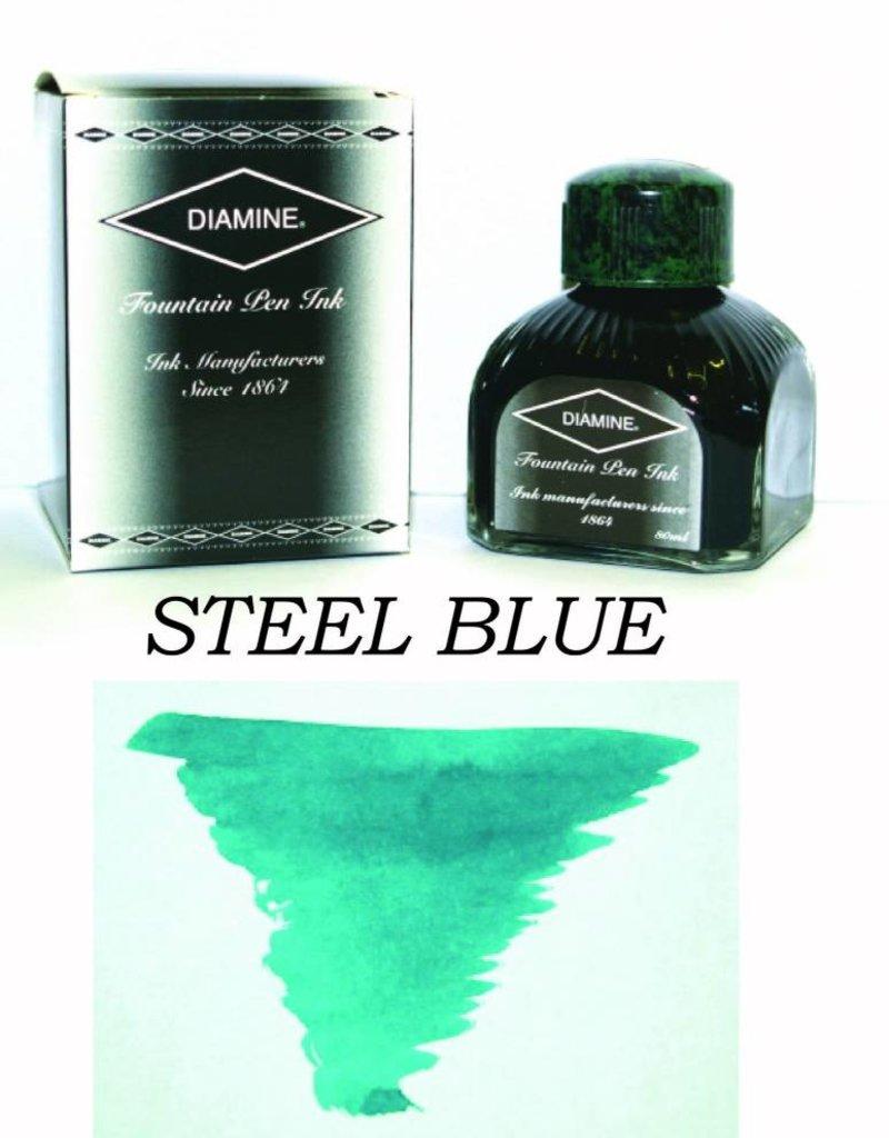 DIAMINE DIAMINE BOTTLED INK 80ML STEEL BLUE
