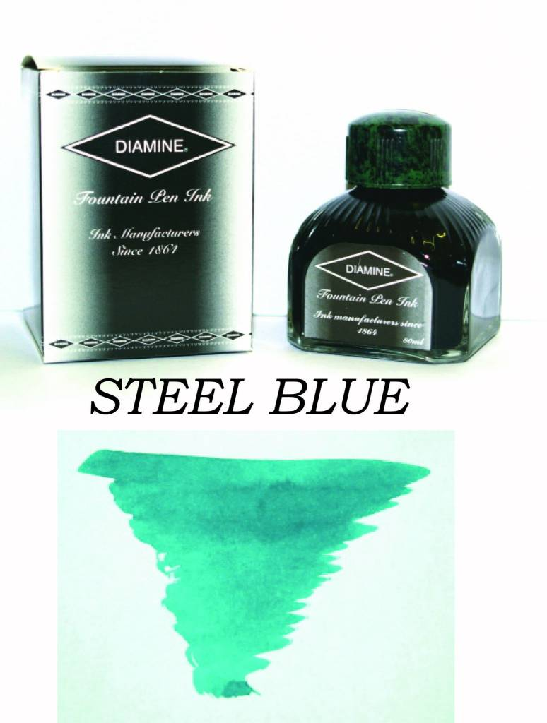 DIAMINE DIAMINE BOTTLED INK 80ML STEEL BLUE