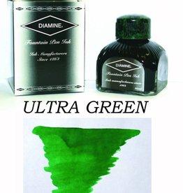 DIAMINE DIAMINE ULTRA GREEN - 80ML BOTTLED INK