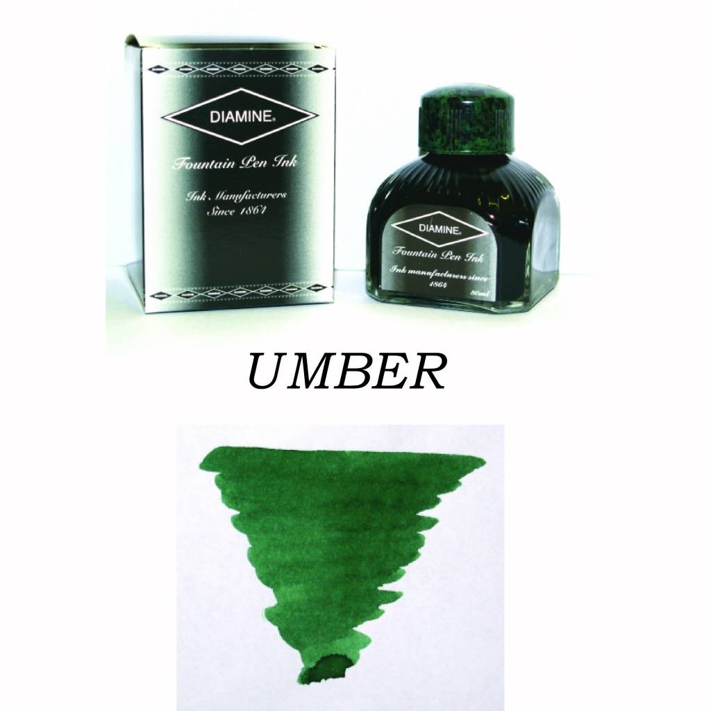 DIAMINE DIAMINE BOTTLED INK 80ML UMBER