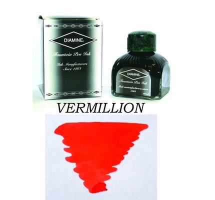 DIAMINE DIAMINE VERMILLION - 80ML BOTTLED INK