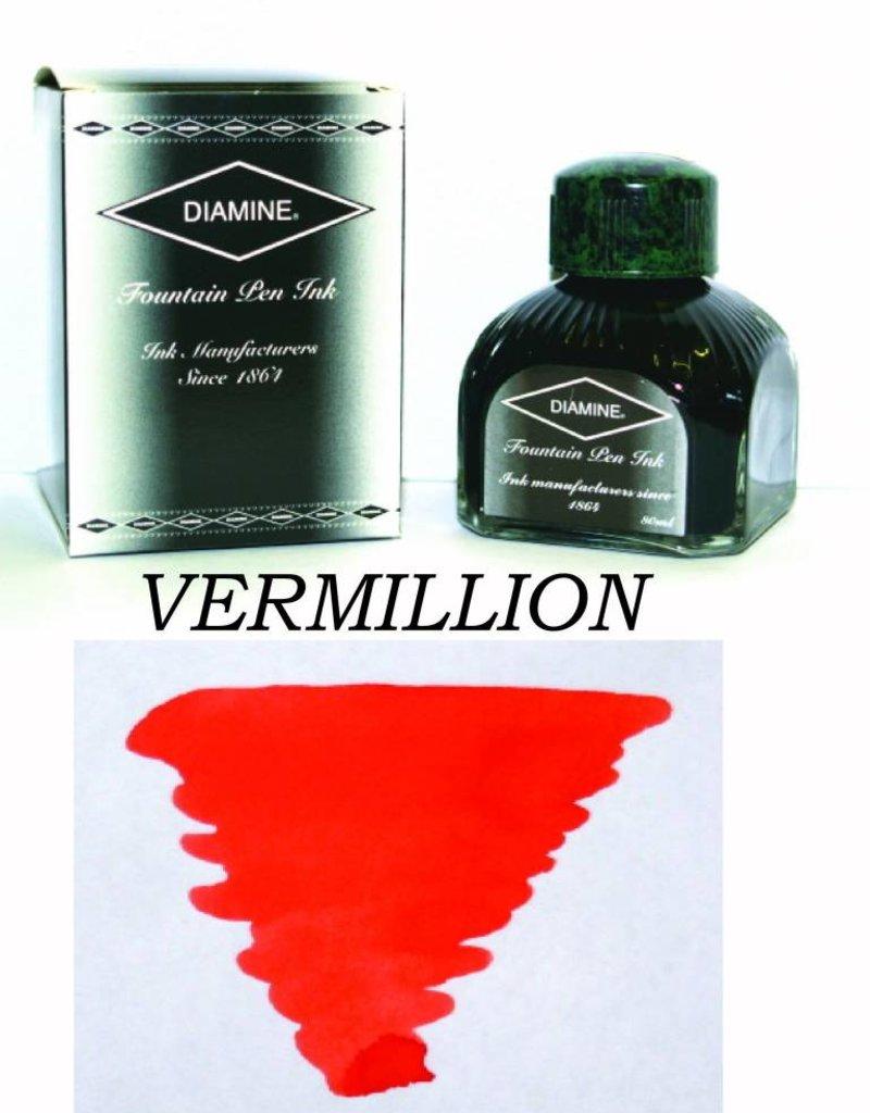 DIAMINE DIAMINE BOTTLED INK 80ML VERMILLION