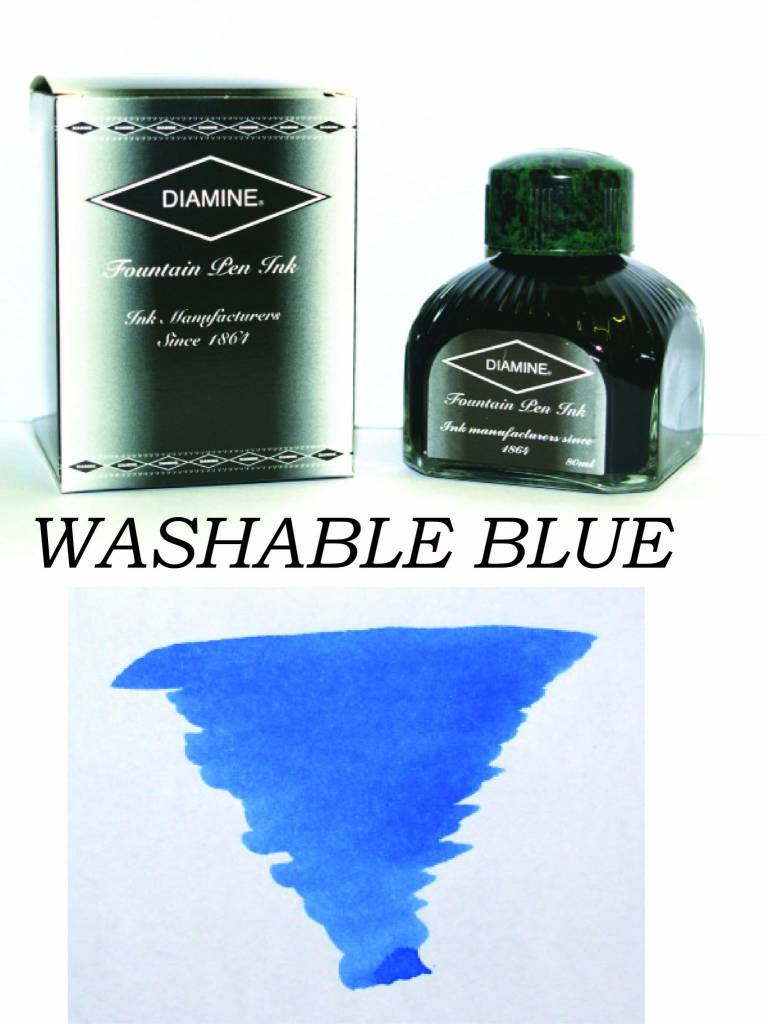 DIAMINE DIAMINE BOTTLED INK 80ML WASHABLE BLUE