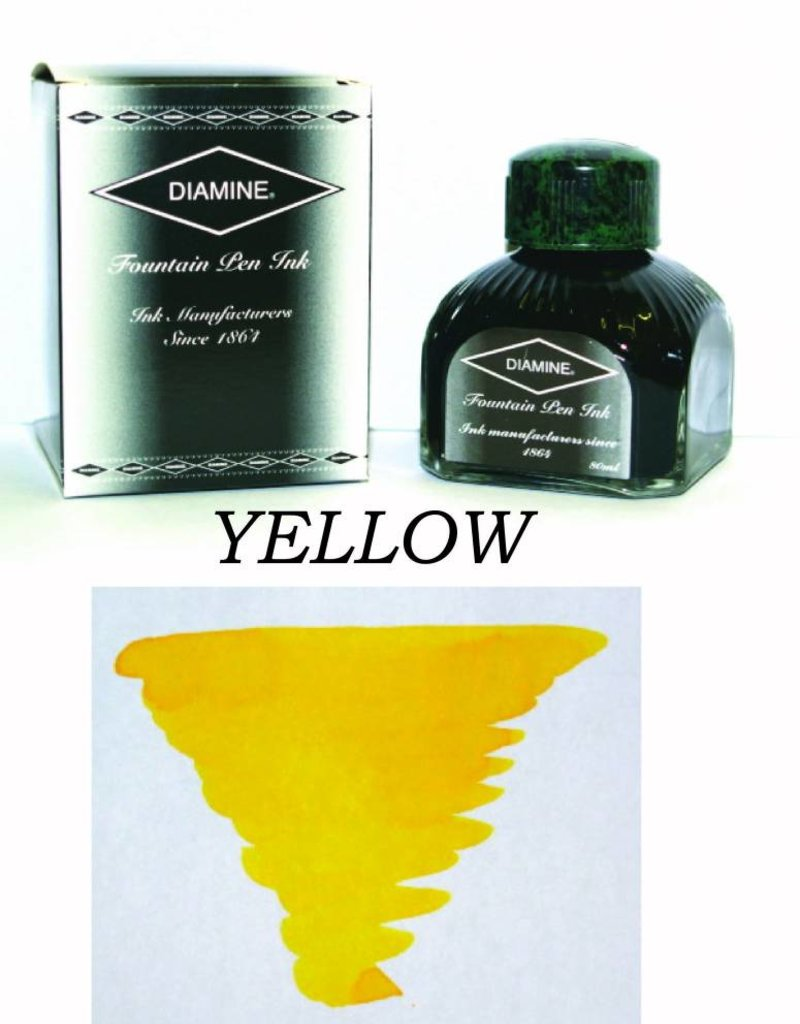 DIAMINE DIAMINE YELLOW - 80ML BOTTLED INK