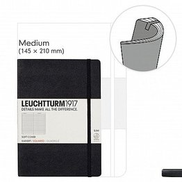 LEUCHTTURM1917 LEUCHTTURM1917 SOFTCOVER NOTEBOOK MEDIUM (A5)