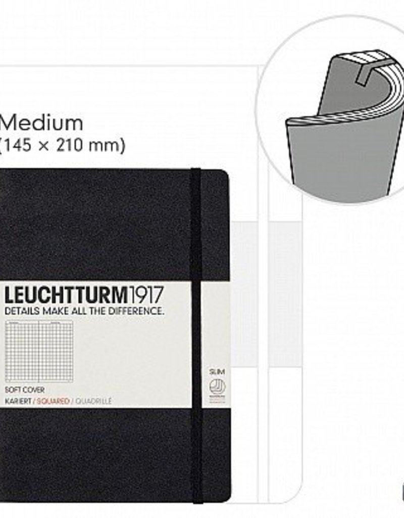 LEUCHTTURM LEUCHTTURM1917 SOFTCOVER NOTEBOOK MEDIUM (A5)