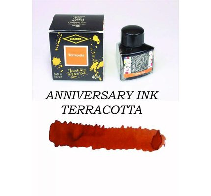 DIAMINE DIAMINE ANNIVERSARY BOTTLED INK 40ML - TERRACOTTA