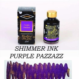 DIAMINE DIAMINE SHIMMERING BOTTLED INK 50ML - PURPLE PAZZAZZ (GOLD)