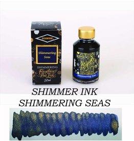 DIAMINE DIAMINE SHIMMERING BOTTLED INK 50ML - SHIMMERING SEAS (GOLD)