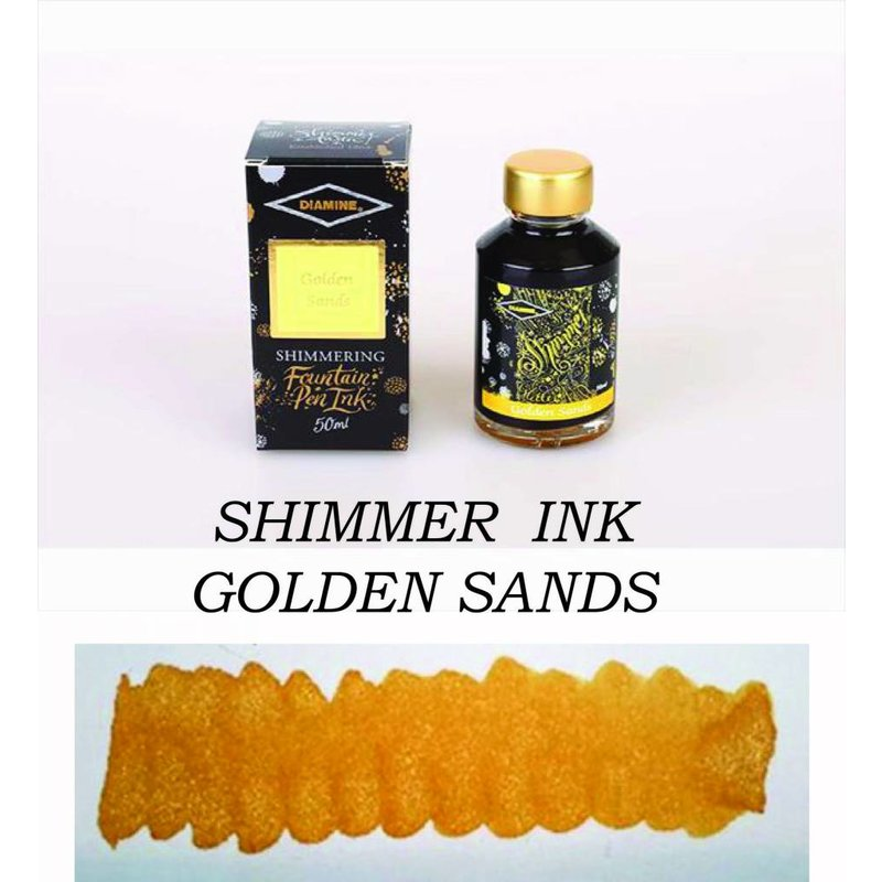 DIAMINE DIAMINE GOLDEN SANDS - 50ML SHIMMERING BOTTLED INK