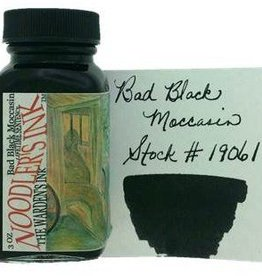NOODLER'S NOODLER'S BOTTLED INK 3 OZ BAD BLACK MOCCASIN
