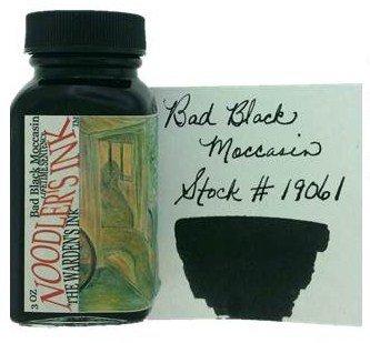 NOODLER'S NOODLER'S BOTTLED INK 3 OZ BAD BLACK MOCCASIN