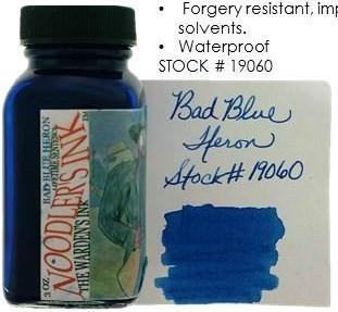 NOODLER'S NOODLER'S BOTTLED INK 3 OZ BAD BLUE HERON