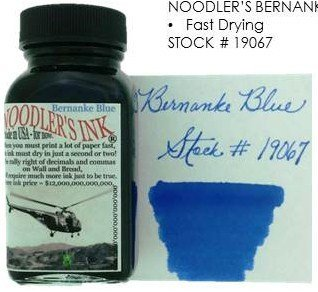 NOODLER'S NOODLER'S BOTTLED INK 3 OZ BERNANKE BLUE
