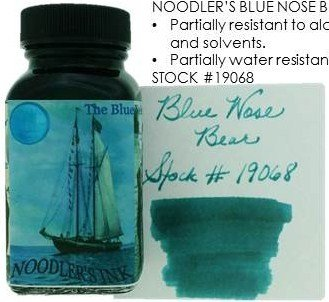 NOODLER'S NOODLER'S BOTTLED INK 3 OZ BLUE NOSE BEAR