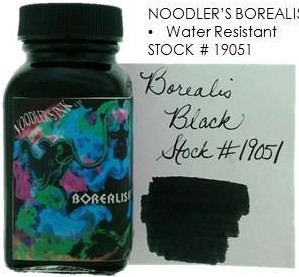 NOODLER'S NOODLER'S BOTTLED INK 3 OZ BOREALIS BLACK