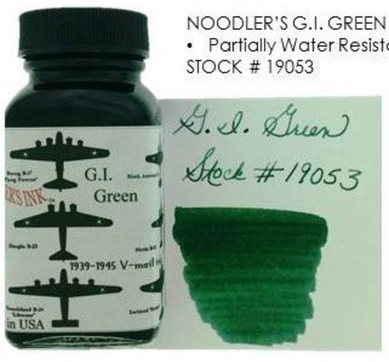 NOODLER'S NOODLER'S G.I. GREEN - 3OZ BOTTLED INK