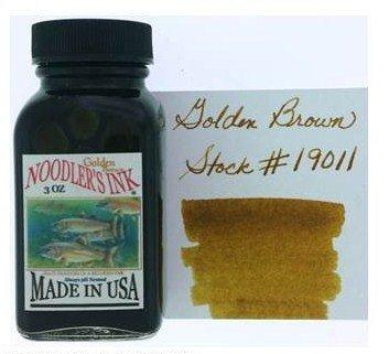 NOODLER'S NOODLER'S BOTTLED INK 3 OZ GOLDEN BROWN