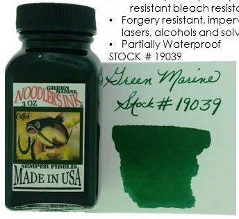 NOODLER'S NOODLER'S BOTTLED INK 3 OZ GREEN MARINE