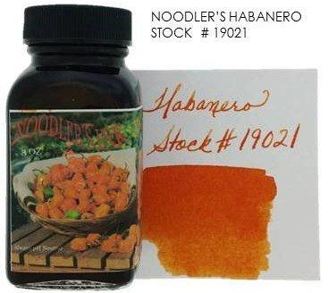 NOODLER'S NOODLER'S BOTTLED INK 3 OZ HABANERO