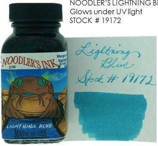 NOODLER'S NOODLER'S BOTTLED INK 3 OZ LIGHTENING BLUE