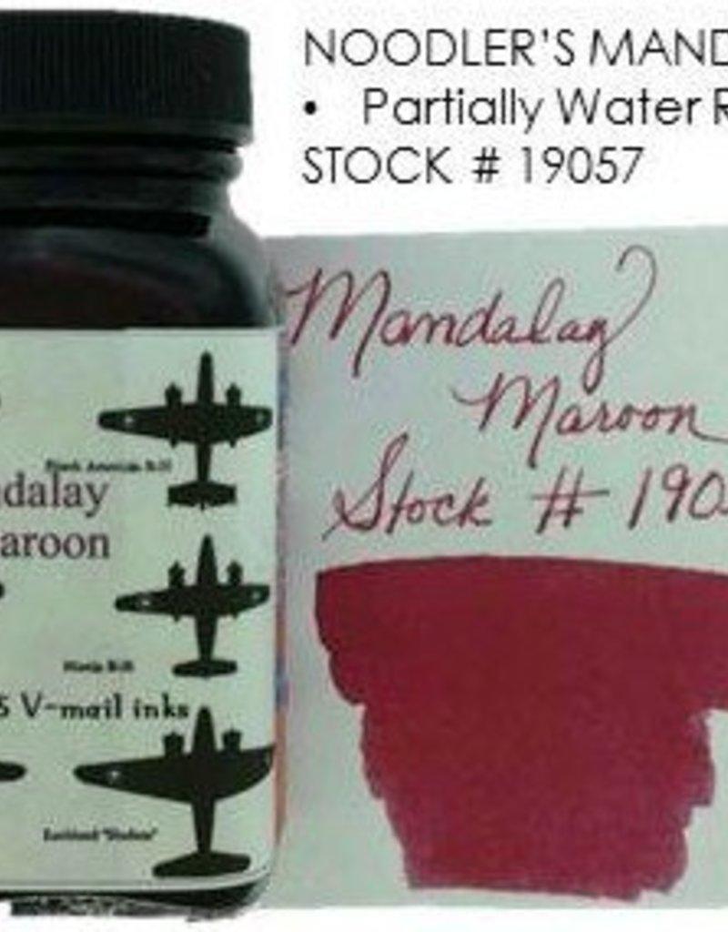 NOODLER'S NOODLER'S MANDALAY MAROON - 3OZ BOTTLED INK