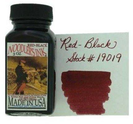 NOODLER'S NOODLER'S RED-BLACK - 3OZ BOTTLED INK