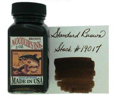 NOODLER'S NOODLER'S BOTTLED INK 3 OZ STANDARD BROWN