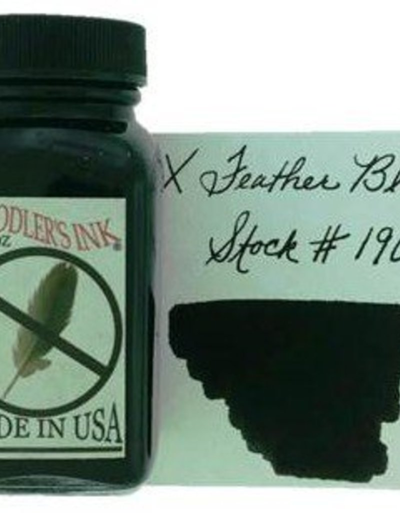 NOODLER'S NOODLER'S BOTTLED INK 3 OZ X FEATHER BLACK