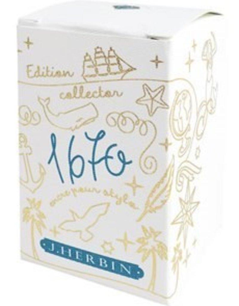 "J. HERBIN J. HERBIN ""1670"" BOTTLED INK 50 ML EMERALD OF CHIVOR"