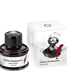 MONTBLANC MONTBLANC LIMITED EDITION BOTTLED INK SHAKESPEARE VELVET RED