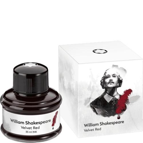 MONTBLANC MONTBLANC LIMITED EDITION BOTTLED INK SHAKESPEARE VELVET RED