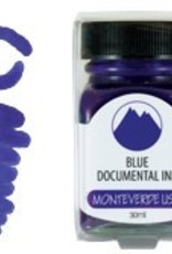 MONTEVERDE MONTEVERDE BOTTLED INK 30 ML BLUE DOCUMENTAL