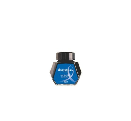 WATERMAN WATERMAN SERENITY BLUE - 50ML BOTTLED INK