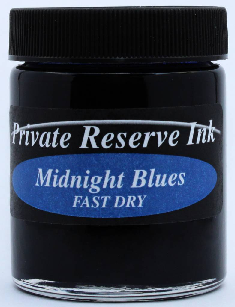 PRIVATE RESERVE PRIVATE RESERVE 66ML BOTTLED INK MIDNIGHT BLUES FAST DRY