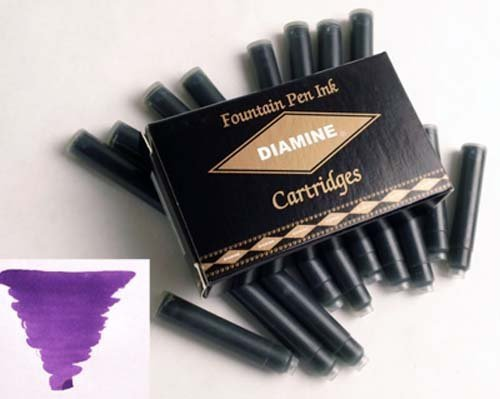 DIAMINE DIAMINE INK CARTRIDGES PURPLE