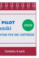 PILOT PILOT INK CARTRIDGES 6 EA GREEN