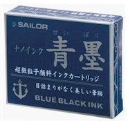 SAILOR SAILOR JENTLE INK CARTRIDGES BLUE/BLACK