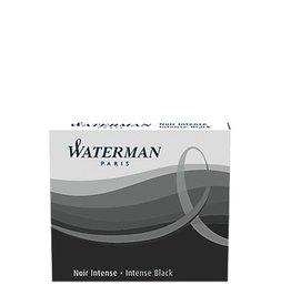 WATERMAN WATERMAN 8 PACK LONG INK CARTRIDGES INTENSE BLACK