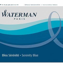 WATERMAN WATERMAN 8 PACK LONG INK CARTRIDGES SERENITY BLUE