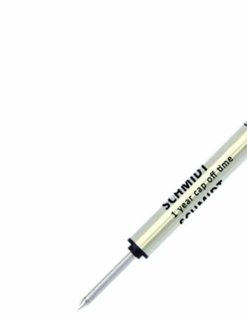 SCHMIDT SCHMIDT P8127 SHORT CAP-LESS ROLLERBALL REFILLS