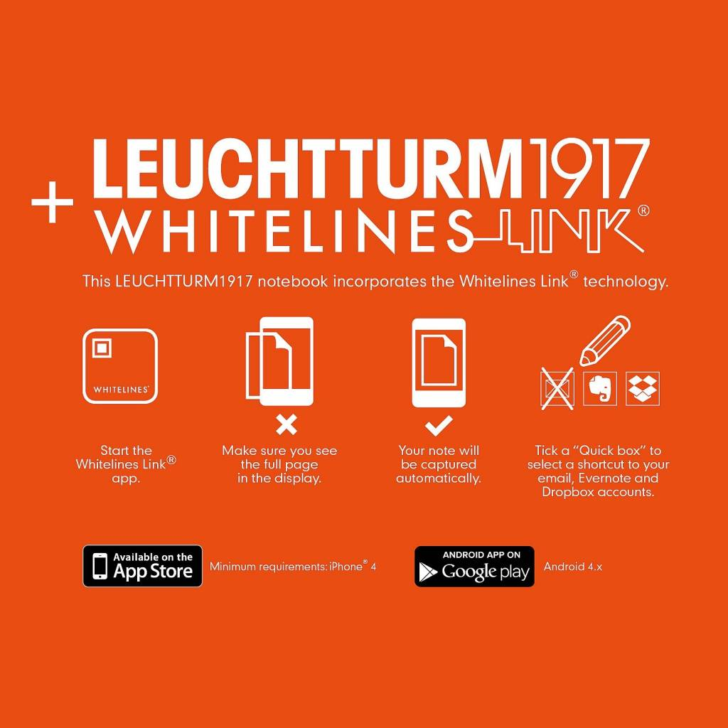 LEUCHTTURM LEUCHTTURM1917 WHITELINES MEDIUM NOTEBOOK
