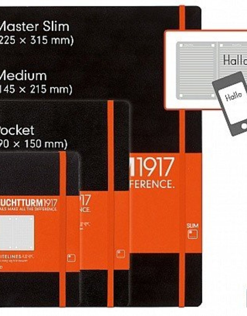 LEUCHTTURM1917 LEUCHTTURM1917 WHITELINES POCKET NOTEBOOK