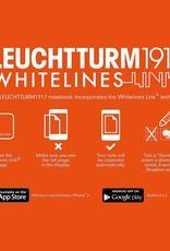 LEUCHTTURM LEUCHTTURM1917 WHITELINES POCKET NOTEBOOK