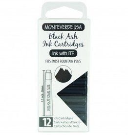 MONTEVERDE MONTEVERDE INK CARTRIDGES BLACK ASH