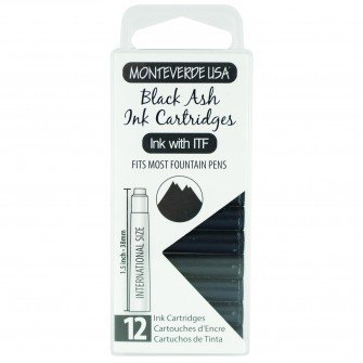 MONTEVERDE MONTEVERDE INK CARTRIDGES BLACK ASH