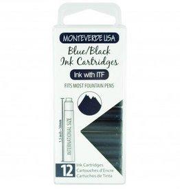 MONTEVERDE MONTEVERDE INK CARTRIDGES BLUE-BLACK
