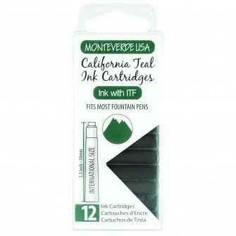 MONTEVERDE MONTEVERDE INK CARTRIDGES CALIFORNIA TEAL