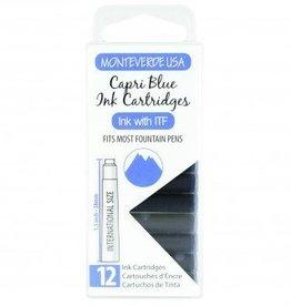 MONTEVERDE MONTEVERDE CAPRI BLUE - INK CARTRIDGES