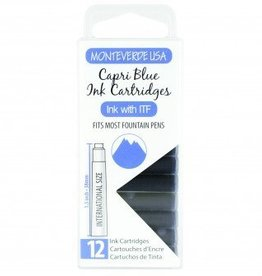 MONTEVERDE MONTEVERDE INK CARTRIDGES CAPRI BLUE